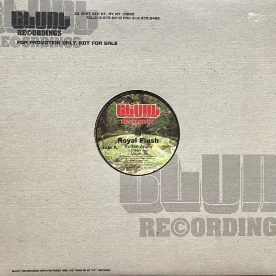 ROYAL FLUSH / ROTTEN APPLE (1996 US ORIGINAL PROMOTIONAL ONLY RARE PRESSING)