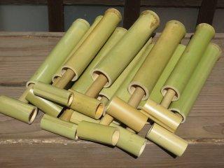 竹の水鉄砲(11個セット)1個おまけ