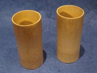 竹製ビアジョッキ(ペアセット)