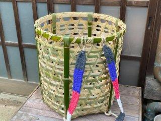 竹製背負い篭(目つぶし)