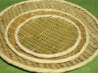盆ざる 丸(8寸)24cm