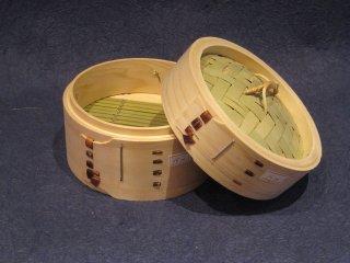 天然桧の中華セイロ(身・蓋セット)15cm