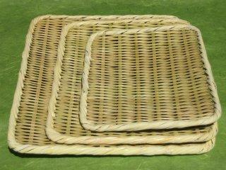 盆ざる 角(8寸)24cm×18cm