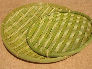 青ざる 丸(8寸)24cm