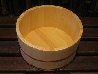 天然桧の風呂湯桶(小)