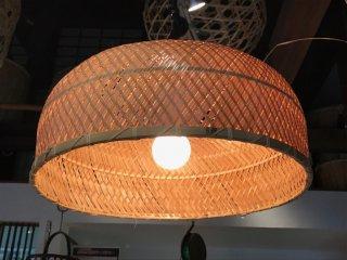 竹製ランプシェイド(木漏れ日)特大