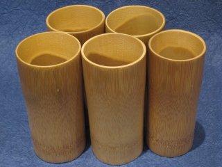 竹製ビアジョッキ(5個セット)【お買得】