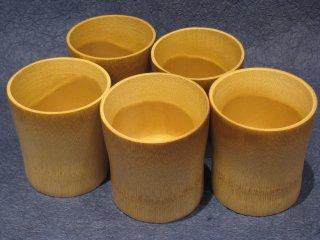 竹製焼酎グラス(5個セット)【お買得】