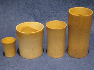 竹製グラス各種(4個セット)【お買得】