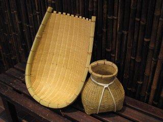 竹製どじょうすくいセット(安来)本場