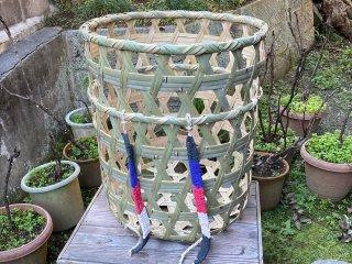 竹製背負い篭(六つ目)大かご(大)草刈り篭