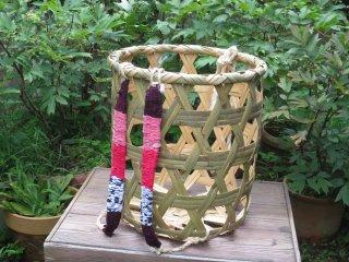 竹製背負い篭(六つ目)大かご(小)草刈り篭