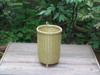 竹製磨き太鼓バチかご(足付)祭り・お囃子