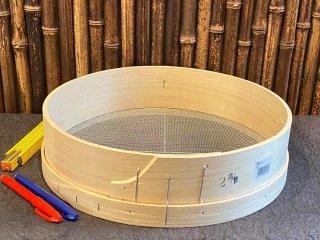 天然桧のふるい(2mm )直径36cm 篩