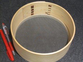 天然桧のふるい(32メッシュ )直径20.5cm 篩