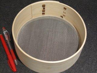 天然桧のふるい(50メッシュ )直径20.5cm 篩