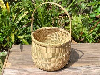 竹製手付き篭(アジロ底)野菜かご