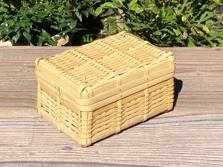 晒竹ランチボックス(白竹)弁当箱(大)深