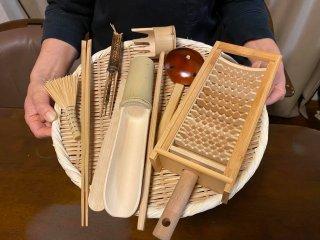 竹づくし鍋セット(8点セット)鬼おろし受皿セット付【お買得】