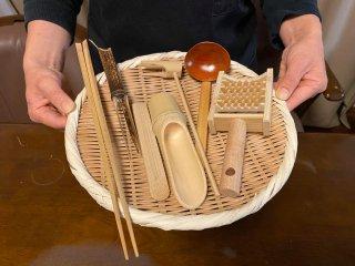 竹づくし二人鍋セット(7点セット)ミニおろし付【お買得】