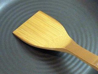 竹製鉄板ベラ(肉厚)皮付き