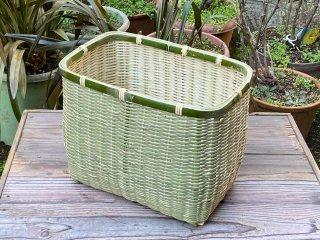 竹製角篭(青竹)収穫かご・収納かご【現品限り】
