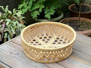 晒竹椀篭(大)白竹