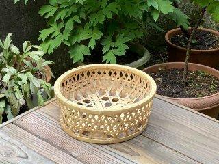 晒竹椀篭(小)白竹
