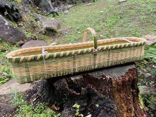 竹製手付き山芋かご(山芋篭)長芋かご【現品限り】
