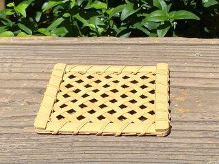 晒竹コースター(四つ目)白竹