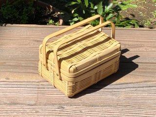 晒竹ピクニックバスケット(白竹)小(長方形)
