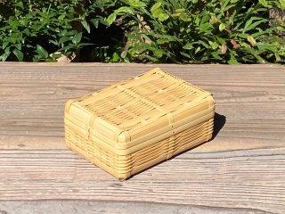 晒竹ランチボックス(白竹)弁当箱(中)