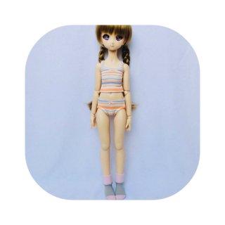 MDD・キャミソール&ショーツ(ソックス付)/オレンジ×ラベンダーストライプ (4,900円)限定1点