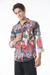 T25.Graffiti Button Down Shirt