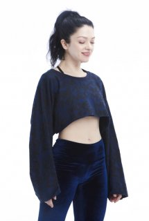 T52.Move and Be Moved Cropped Sweatshirt