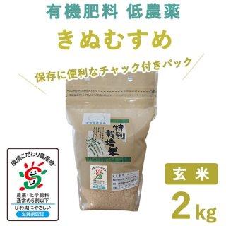 【新米】滋賀県産 きぬむすめ玄米2kg
