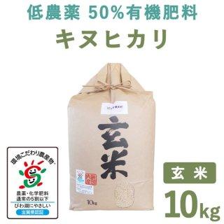 【新米】 滋賀県産低農薬50%有機肥料キヌヒカリ玄米10kg