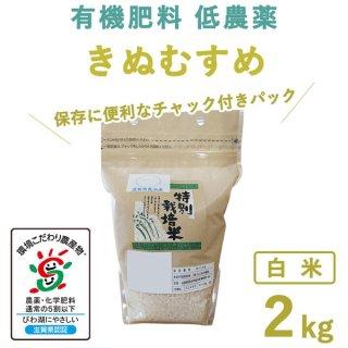 【新米】滋賀県産 きぬむすめ白米2kg
