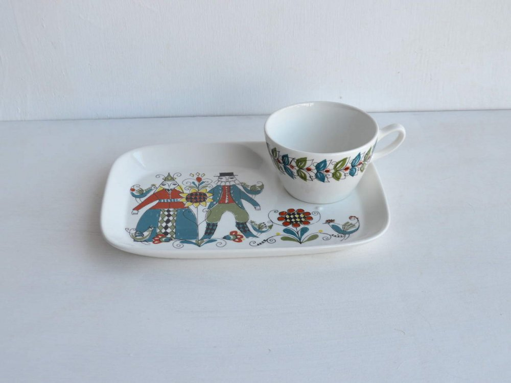 Cup & Snack Saucer /Figgio