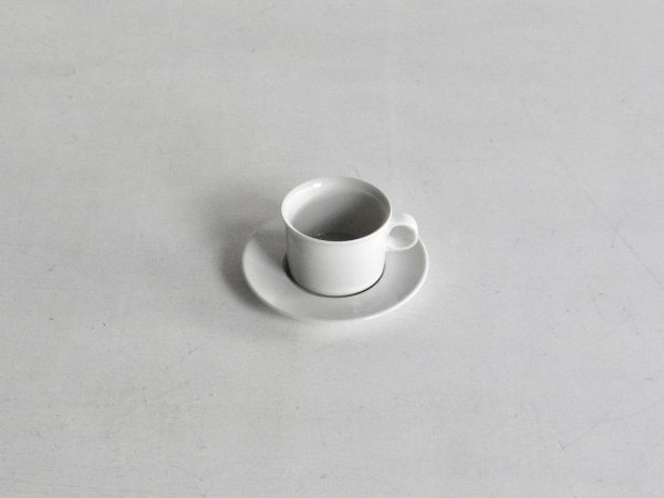 Coffee Cup&Saucer / Domino 白磁