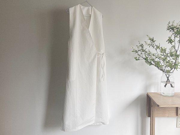 Cache-coeur  long dress  /  ホワイト