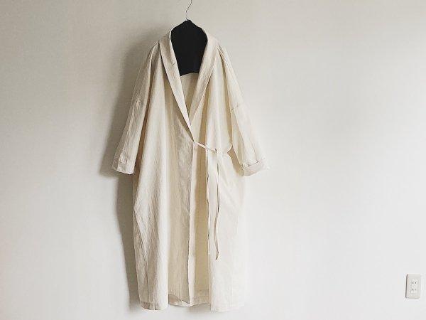 robe coat Cocoon silhouette  /  オフホワイト