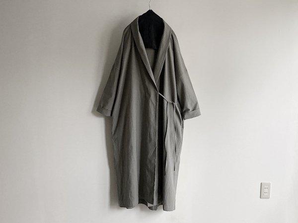 Robe coat Cocoon silhouette  /  スミグレイ