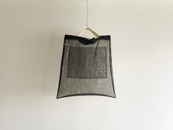 Mesh Bag  /  黒×白(短)
