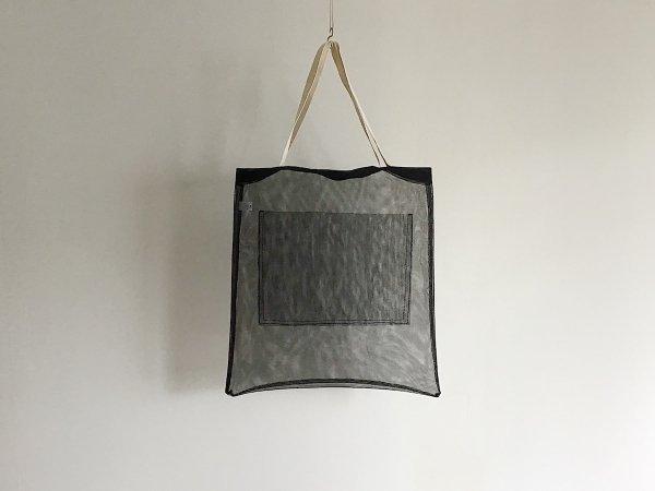 Mesh Bag  /  黒×白(長)