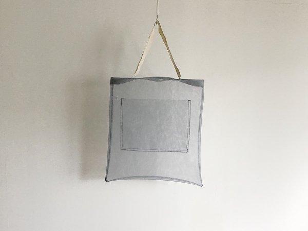 Mesh bag  /  グレー×白(長)