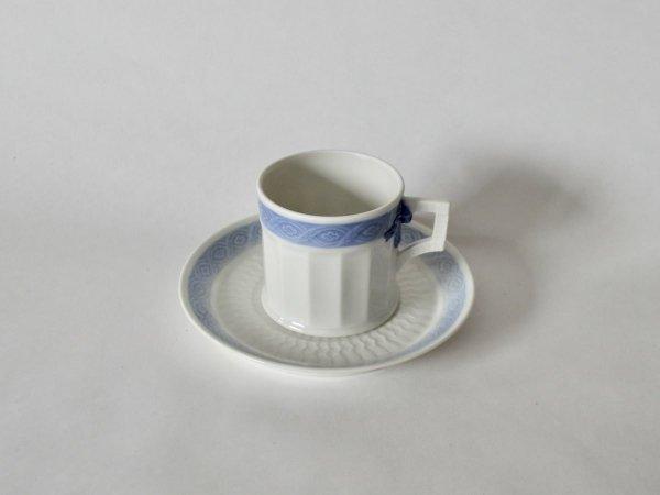 Coffee Cup & Saucer / Blue Fan