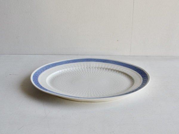 Oval Plate (LL) /Blue Fan