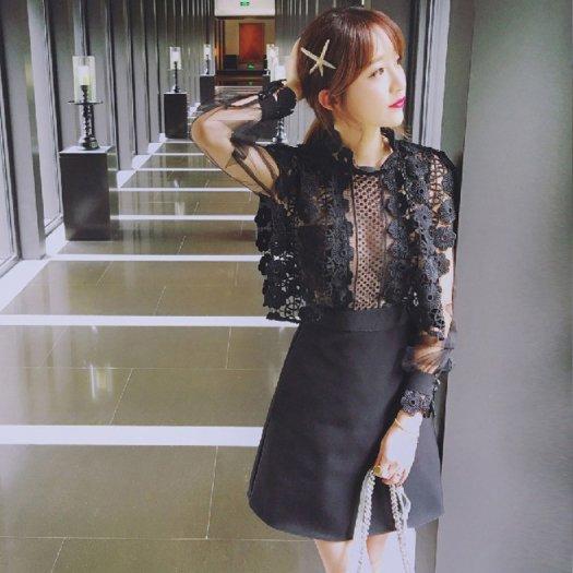 刺繍 シースルー 長袖 ミニ ショート タイト エレガント ドレス