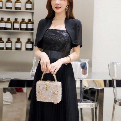 ボレロ ブラック イベント ドレス用 パーティー drgz1057